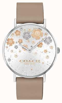 Coach | poiré | bracelet en cuir de pierre | cadran floral à paillettes | 14503326