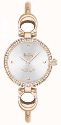 Coach | les femmes | parc | bracelet en or rose | cadran argenté | 14503447