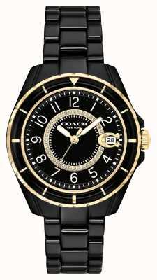 Coach | les femmes | preston | bracelet en céramique noire | cadran noir | 14503461