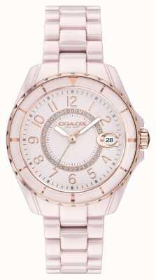 Coach | les femmes | preston | bracelet en céramique rose | cadran rose | 14503463