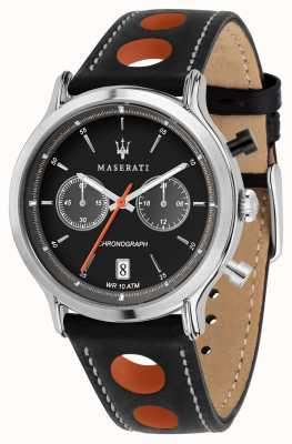 Maserati | epoca racing 42mm | bracelet en cuir noir | cadran noir | R8851138003