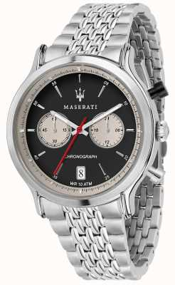 Maserati | epoca racing 42mm | bracelet en acier inoxydable | cadran noir R8873638001