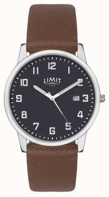 Limit | bracelet homme en cuir marron | cadran bleu | 5743.01