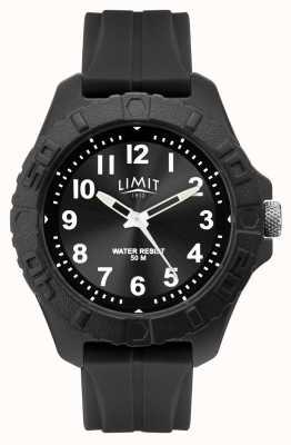 Limit | analogique adulte actif pour homme | bracelet en caoutchouc noir | 5754.01
