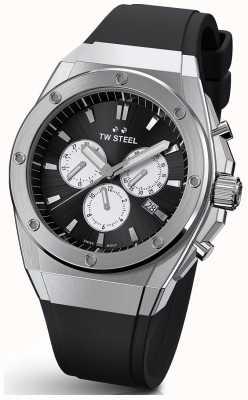 TW Steel Ceo tech | chrono | cadran noir | bracelet en caoutchouc noir TWCE4041