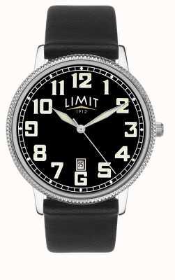Limit | bracelet homme en cuir noir | cadran noir | 5747.01