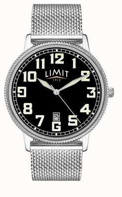 Limit | bracelet en acier inoxydable pour hommes | cadran noir | 5748.01