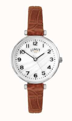 Limit | bracelet en cuir marron pour femme | cadran en nacre | 60060.01