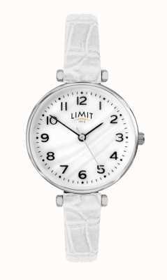 Limit | bracelet en cuir blanc pour femme | cadran en nacre | 60061.01