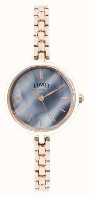 Limit | bracelet femme en or rose | cadran bleu | 60064.01