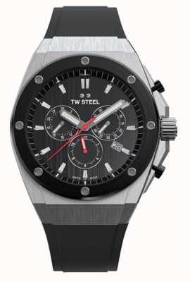 TW Steel Ceo tech | chrono | cadran noir | bracelet en caoutchouc noir CE4042