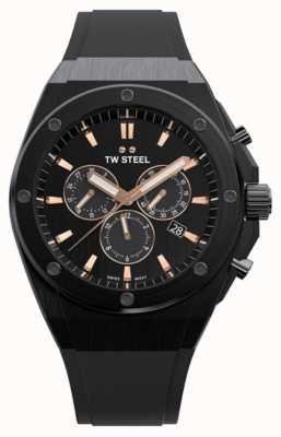 TW Steel | ceo tech | édition limitée | chronographe | caoutchouc noir | CE4044