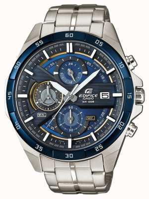 Casio | chronographe édifice | acier inoxydable | cadran bleu | EFR-556DB-2AVUEF
