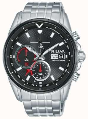 Pulsar | chronographe accélérateur | acier inoxydable | cadran noir | PZ6027X1
