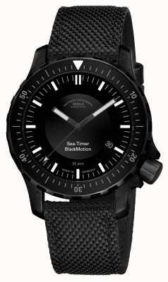 Muhle Glashutte | mouvement noir de l'horloge de mer | bracelet synthétique noir | M1-41-83-NB