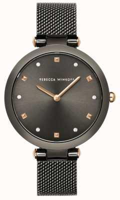 Rebecca Minkoff Femme nina | bracelet maille gris | cadran gris | 2200302