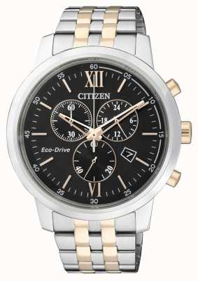 Citizen chronographe eco-drive pour homme | bracelet en acier inoxydable | AT2304-50E