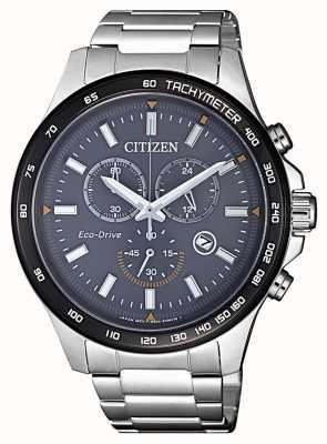 Citizen | chronographe eco-drive pour homme | bracelet en acier inoxydable | AT2424-82H