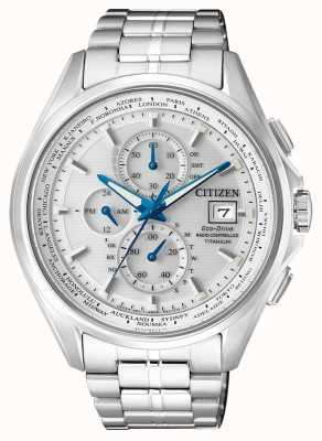 Citizen | chronographe eco-drive world pour homme à | bracelet en titane | AT8130-56A