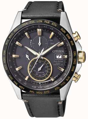 Citizen Montre H800 radiocommandée pour homme au chronographe mondial AT8158-14H EX-DISPLAY