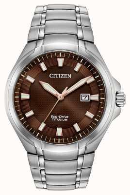 Citizen | eco-drive pour hommes | bracelet en titane | cadran marron | BM7431-51X