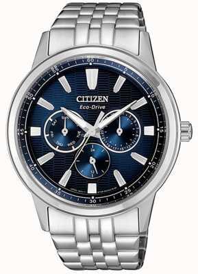 Citizen | eco-drive pour homme | bracelet en acier inoxydable | cadran bleu | BU2071-87L