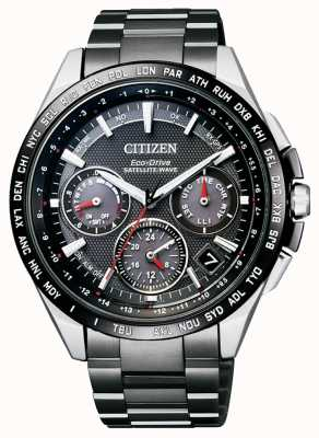 Citizen | mens eco-drive satellite wave gps | bracelet en titane dlc CC9015-62E