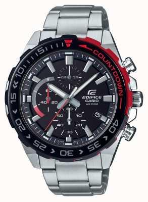 Casio | chronographe edifice | bracelet en acier inoxydable | cadran noir EFR-566DB-1AVUEF