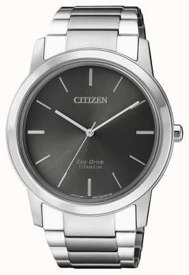 Citizen | hommes eco-drive titane wr50 | cadran gris | AW2020-82H