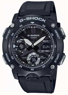 Casio | garde noyau en carbone g-shock | bracelet en caoutchouc noir | GA-2000S-1AER