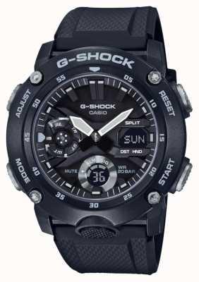 Casio | garde de noyau de carbone g-shock | bracelet en caoutchouc noir | GA-2000S-1AER