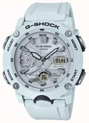 Casio | garde noyau en carbone g-shock | bracelet en caoutchouc blanc | GA-2000S-7AER
