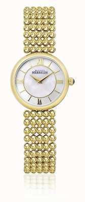 Michel Herbelin | femme perle | bracelet de ton or | cadran en nacre | 17483/BP19