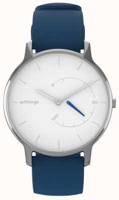 Withings Move chic intemporel - silicone blanc, bleu HWA06M-TIMELESS CHIC-MODEL 2-RET-INT