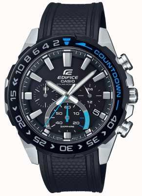 Casio | édifice solaire | bracelet en caoutchouc noir | cadran chronographe noir EFS-S550PB-1AVUEF