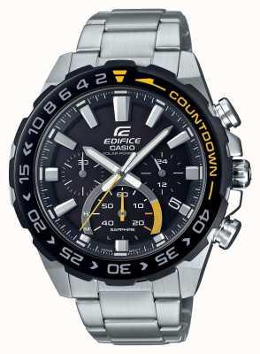 Casio | édifice solaire | bracelet en acier inoxydable | cadran noir | EFS-S550DB-1AVUEF