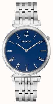 Bulova | hommes | bracelet en acier inoxydable | cadran bleu | 96A233