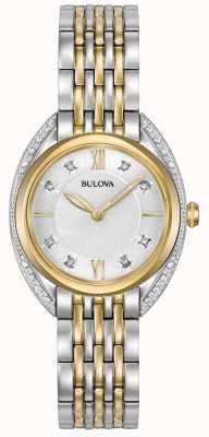Bulova Diamant classique femme   bracelet en acier inoxydable deux tons 98R229