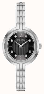 Bulova | rhapsodie | les femmes | bracelet en acier | cadran noir | 96P215