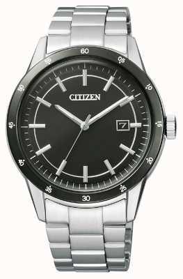 Citizen | eco-drive pour homme | bracelet en acier inoxydable | cadran noir | AW1164-53E