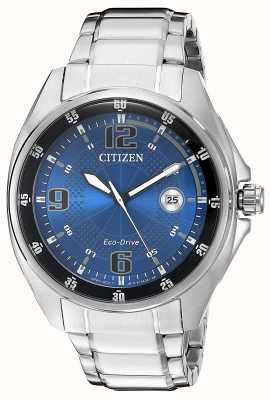 Citizen | eco-drive pour hommes | cadran bleu | bracelet en acier inoxydable | AW1510-54L