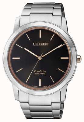 Citizen | hommes eco-drive titane wr50 | cadran noir | bracelet en argent AW2024-81E