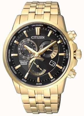 Citizen | éco-drive homme calibre 8700 | cadran noir | ton or | BL8142-84E