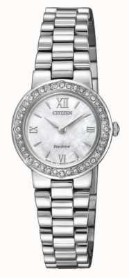 Citizen | eco-drive femme | coffret en cristal | bracelet en argent | EW9820-89D