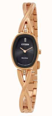 Citizen | eco-drive silhouette femme | bracelet en or | EX1413-55E