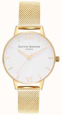 Olivia Burton | les femmes | cadran blanc | bracelet en maille d'or | OB16MDW35