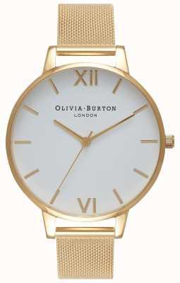 Olivia Burton | les femmes | cadran blanc | bracelet en maille d'or | OB15BD84