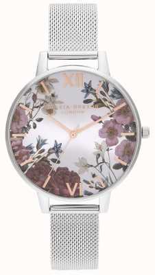 Olivia Burton | les femmes | fleurs britanniques | bracelet en maille d'acier inoxydable | OB16EG133