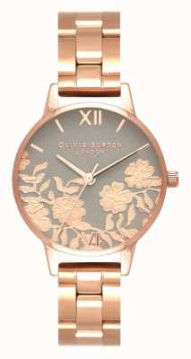 Olivia Burton | les femmes | cadran détail dentelle | bracelet en or rose | OB16MV88