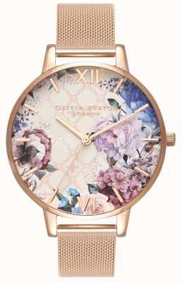 Olivia Burton | les femmes | serre | bracelet en maille d'or rose | OB16EG86